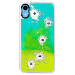 Neonové pouzdro Blue iSaprio - Gunshots - iPhone XR