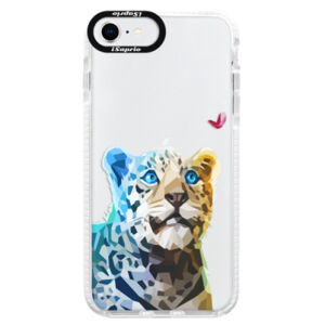Silikonové pouzdro Bumper iSaprio - Leopard With Butterfly - iPhone SE 2020