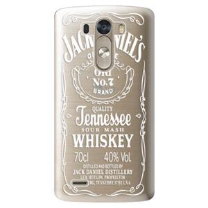 Plastové pouzdro iSaprio - Transparent White Jack - LG G3 (D855)