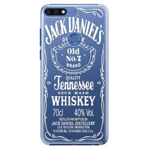 Plastové pouzdro iSaprio - Transparent White Jack - Huawei Honor 7C