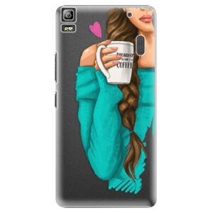 Plastové pouzdro iSaprio - My Coffe and Brunette Girl - Lenovo A7000