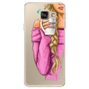 Plastové pouzdro iSaprio - My Coffe and Blond Girl - Samsung Galaxy A3 2016