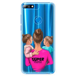Plastové pouzdro iSaprio - Super Mama - Two Girls - Huawei Y7 Prime 2018