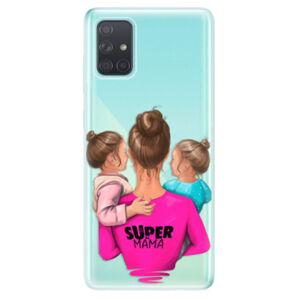 Odolné silikonové pouzdro iSaprio - Super Mama - Two Girls - Samsung Galaxy A71