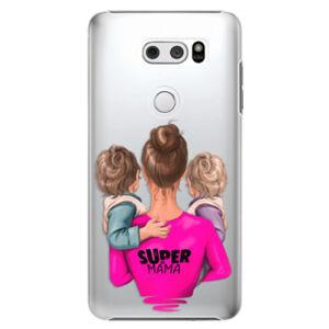 Plastové pouzdro iSaprio - Super Mama - Two Boys - LG V30