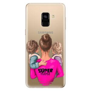 Odolné silikonové pouzdro iSaprio - Super Mama - Two Boys - Samsung Galaxy A8 2018