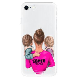 Plastové pouzdro iSaprio - Super Mama - Two Boys - iPhone SE 2020