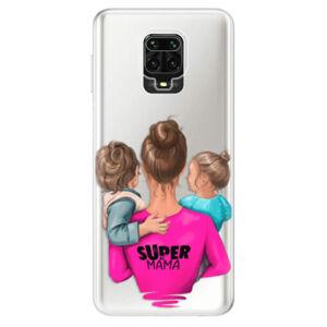Odolné silikonové pouzdro iSaprio - Super Mama - Boy and Girl - Xiaomi Redmi Note 9 Pro / Note 9S