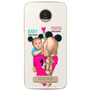 Plastové pouzdro iSaprio - Mama Mouse Blonde and Boy - Lenovo Moto Z Play