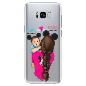 Plastové pouzdro iSaprio - Mama Mouse Brunette and Boy - Samsung Galaxy S8