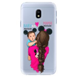 Plastové pouzdro iSaprio - Mama Mouse Brunette and Boy - Samsung Galaxy J3 2017