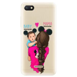 Odolné silikonové pouzdro iSaprio - Mama Mouse Brunette and Boy - Xiaomi Redmi 6A