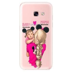Odolné silikonové pouzdro iSaprio - Mama Mouse Blond and Girl - Samsung Galaxy A3 2017