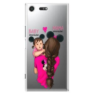 Plastové pouzdro iSaprio - Mama Mouse Brunette and Girl - Sony Xperia XZ Premium