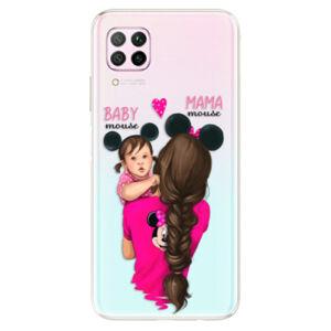 Odolné silikonové pouzdro iSaprio - Mama Mouse Brunette and Girl - Huawei P40 Lite