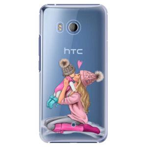 Plastové pouzdro iSaprio - Kissing Mom - Blond and Girl - HTC U11