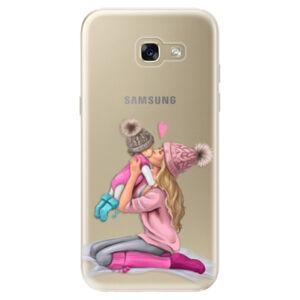 Odolné silikonové pouzdro iSaprio - Kissing Mom - Blond and Girl - Samsung Galaxy A5 2017