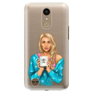 Plastové pouzdro iSaprio - Coffe Now - Blond - LG K10 2017