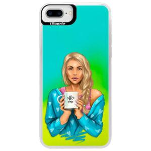 Neonové pouzdro Blue iSaprio - Coffe Now - Blond - iPhone 7 Plus