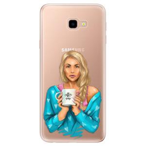 Odolné silikonové pouzdro iSaprio - Coffe Now - Blond - Samsung Galaxy J4+