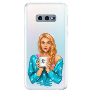 Odolné silikonové pouzdro iSaprio - Coffe Now - Redhead - Samsung Galaxy S10e