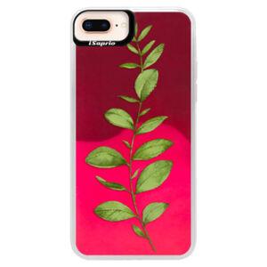 Neonové pouzdro Pink iSaprio - Green Plant 01 - iPhone 8 Plus