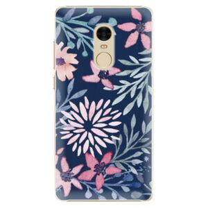 Plastové pouzdro iSaprio - Leaves on Blue - Xiaomi Redmi Note 4