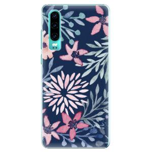 Plastové pouzdro iSaprio - Leaves on Blue - Huawei P30