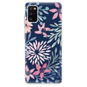 Plastové pouzdro iSaprio - Leaves on Blue - Samsung Galaxy A41
