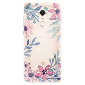 Silikonové pouzdro iSaprio - Leaves and Flowers - Xiaomi Redmi 5 Plus