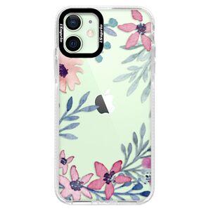 Silikonové pouzdro Bumper iSaprio - Leaves and Flowers - iPhone 12 mini