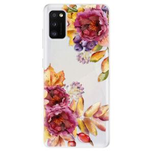 Odolné silikonové pouzdro iSaprio - Fall Flowers - Samsung Galaxy A41