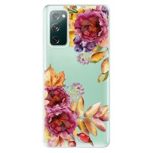 Odolné silikonové pouzdro iSaprio - Fall Flowers - Samsung Galaxy S20 FE