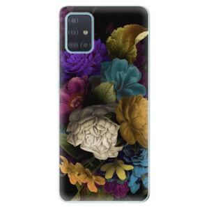 Odolné silikonové pouzdro iSaprio - Dark Flowers - Samsung Galaxy A51