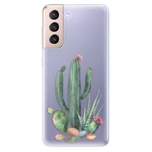 Odolné silikonové pouzdro iSaprio - Cacti 02 - Samsung Galaxy S21
