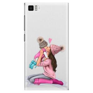 Plastové pouzdro iSaprio - Kissing Mom - Brunette and Girl - Xiaomi Mi3