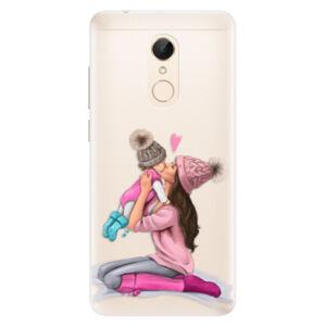 Silikonové pouzdro iSaprio - Kissing Mom - Brunette and Girl - Xiaomi Redmi 5