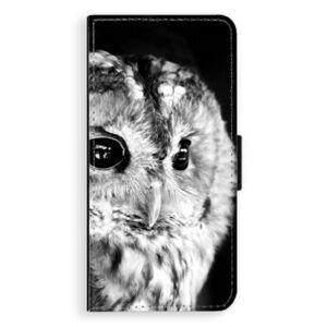 Flipové pouzdro iSaprio - BW Owl - Huawei Ascend P8