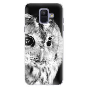 Silikonové pouzdro iSaprio - BW Owl - Samsung Galaxy A6