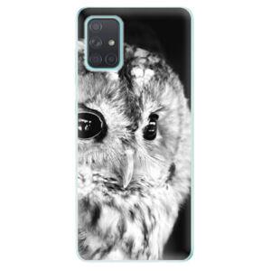 Odolné silikonové pouzdro iSaprio - BW Owl - Samsung Galaxy A71