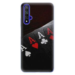 Odolné silikonové pouzdro iSaprio - Poker - Huawei Honor 20